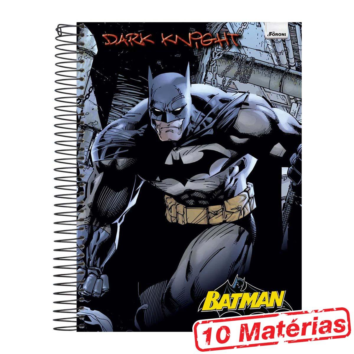 Caderno 10 Mat�rias Batman Dark Knight