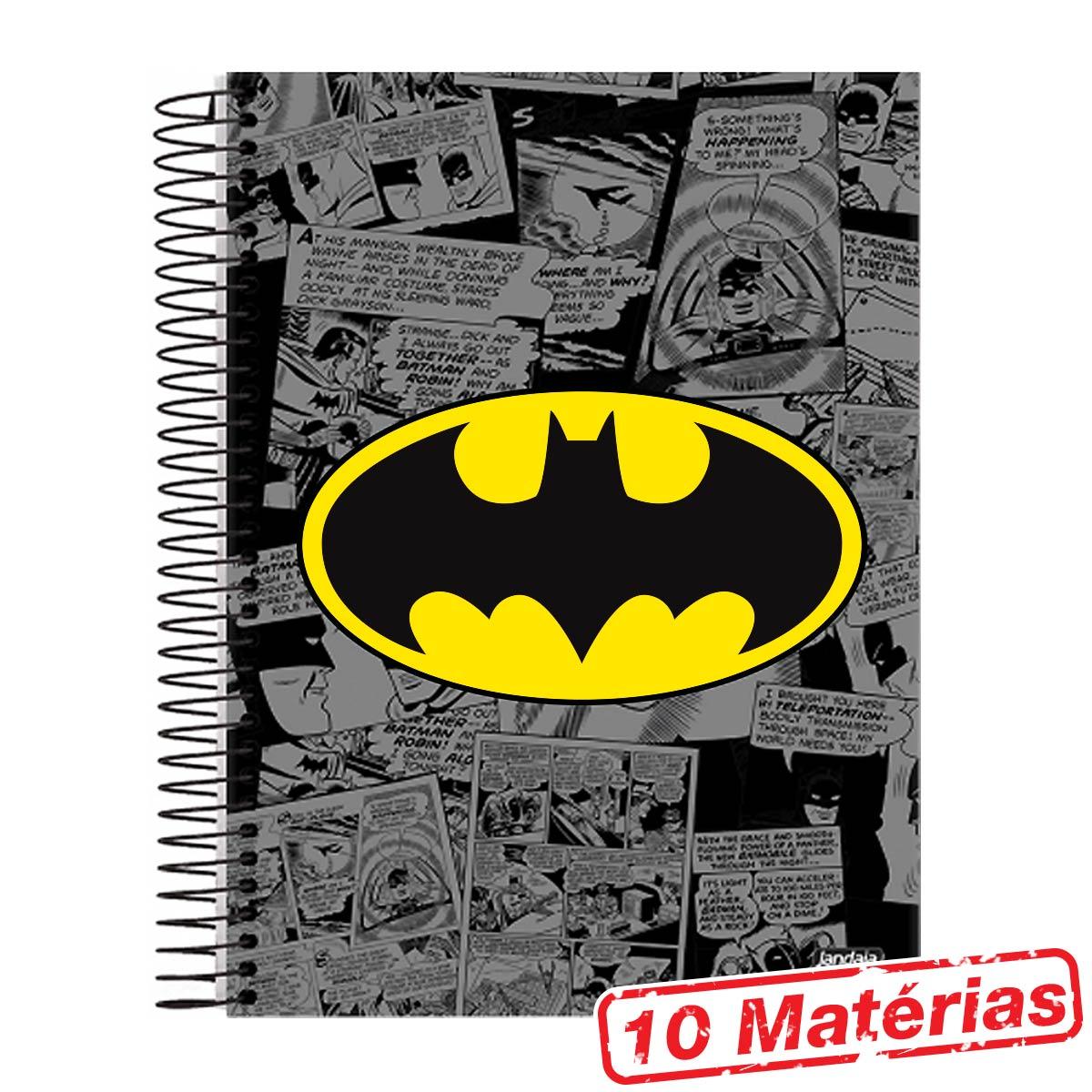 Caderno 10 Mat�rias Batman Logo