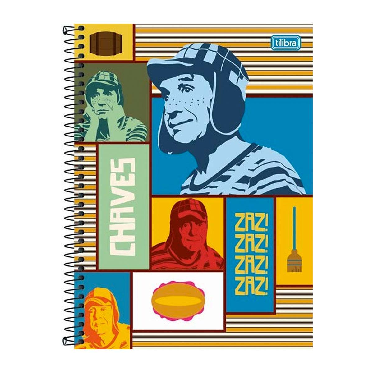 Caderno Chaves Zaz Zaz Zaz Vintage 10 Matérias