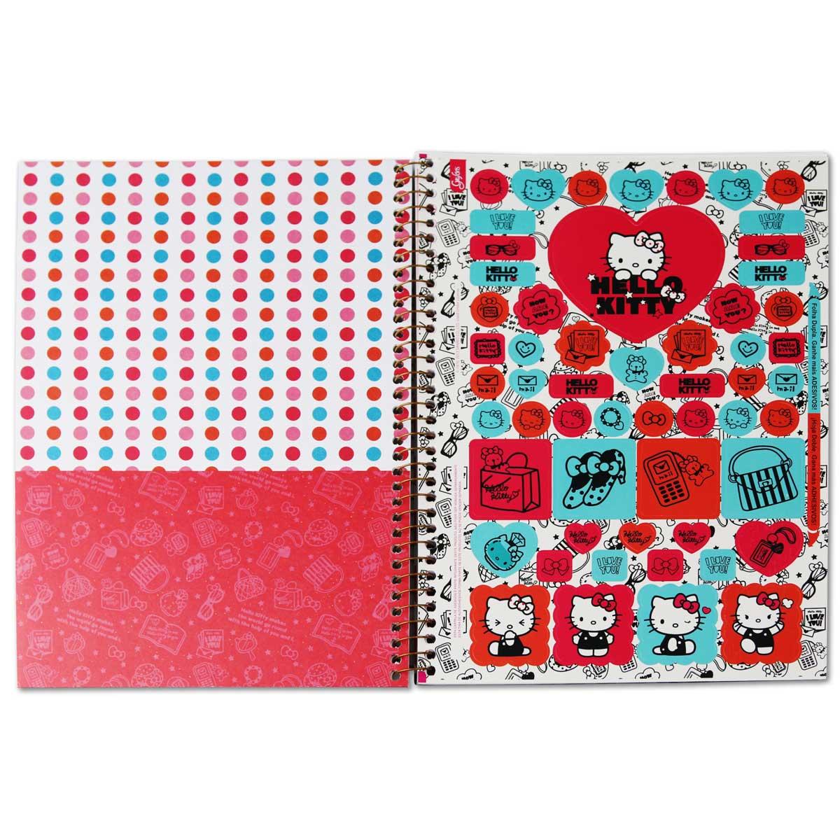 Caderno Hello Kitty Fashion Collors 10 Matérias