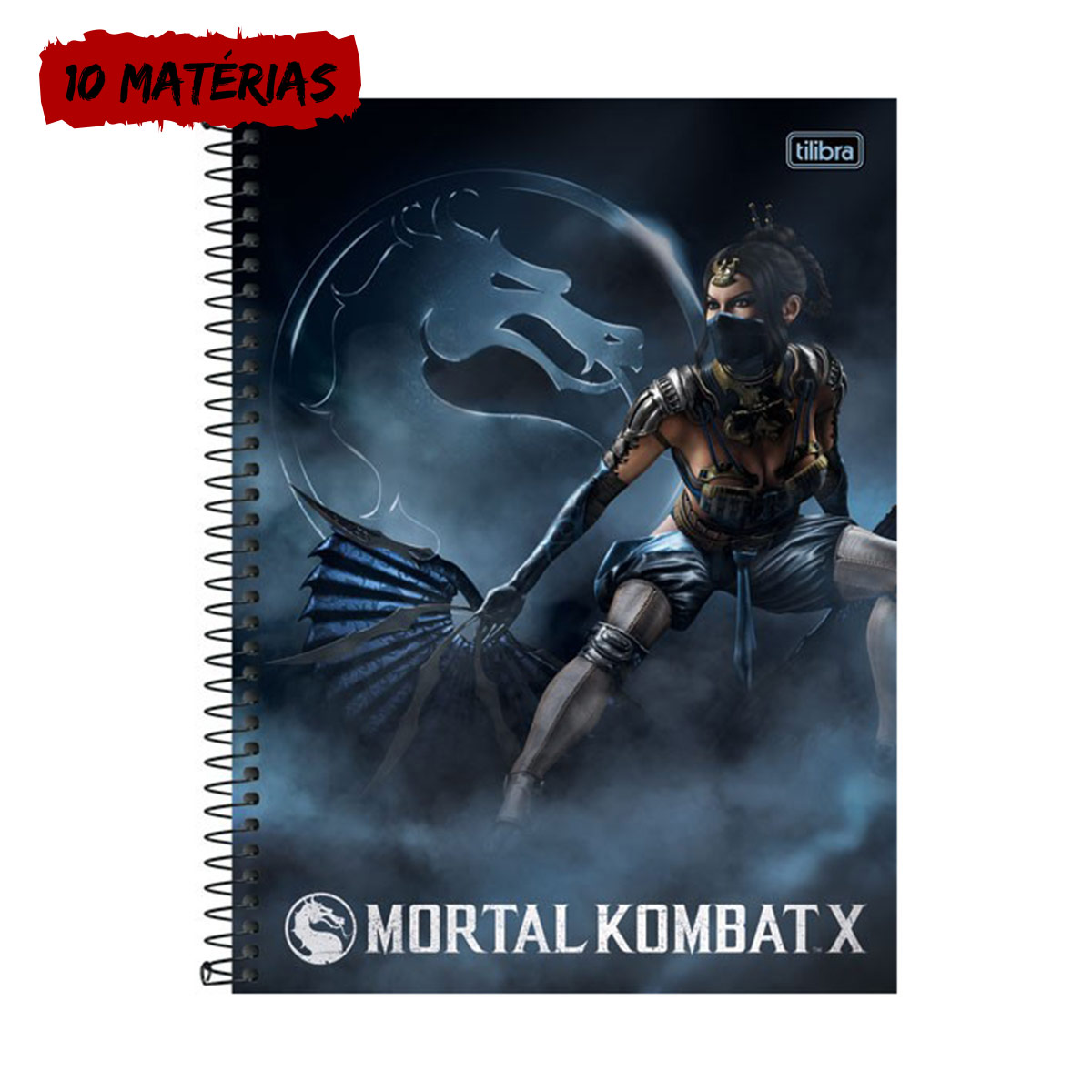 Caderno Mortal Kombat X Kitana 10 Mat�rias