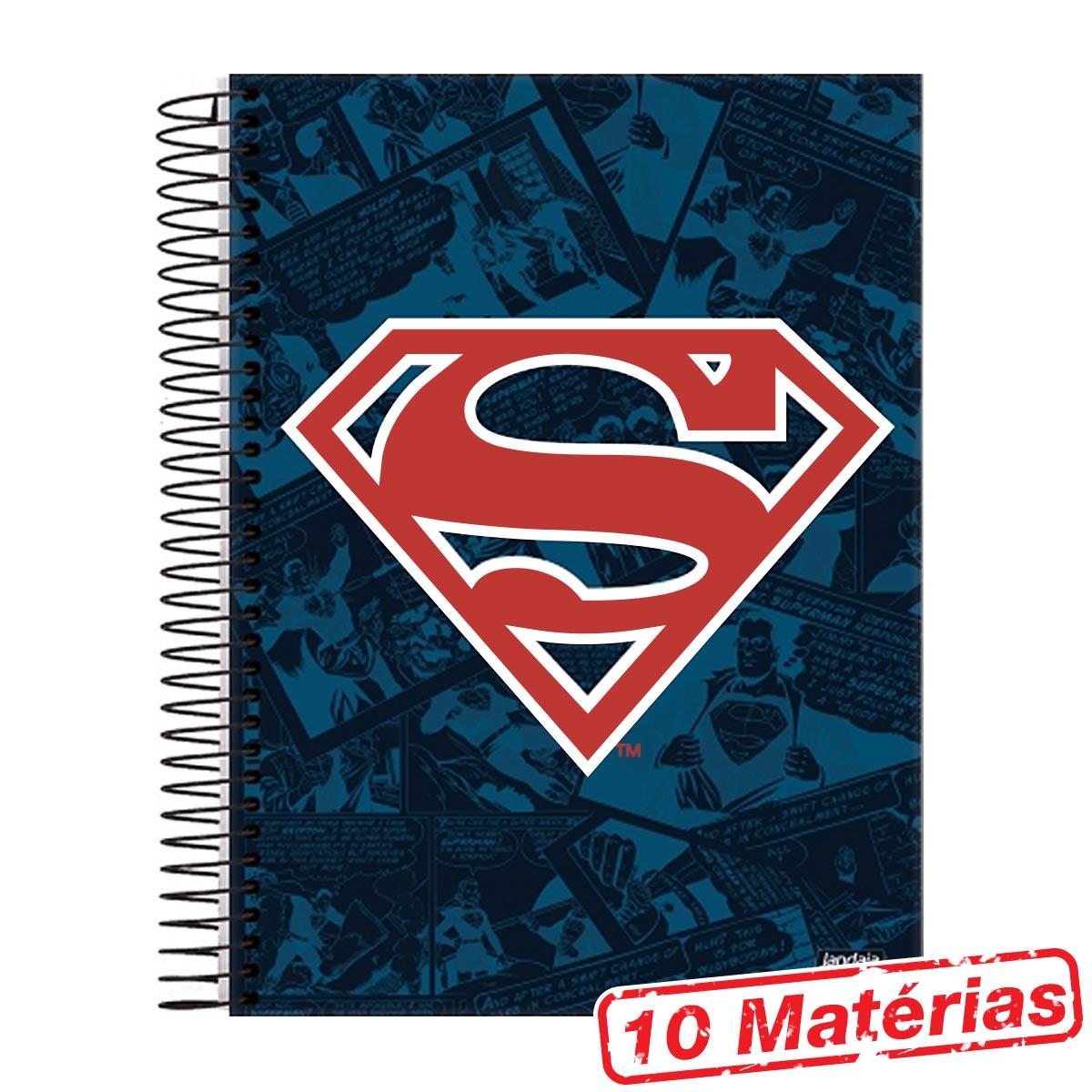 Caderno 10 Mat�rias Superman Logo