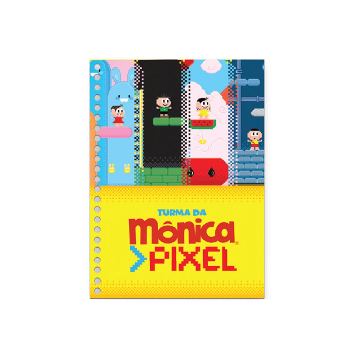 Caderno Turma da M�nica Pixel Magali 10 Mat�rias