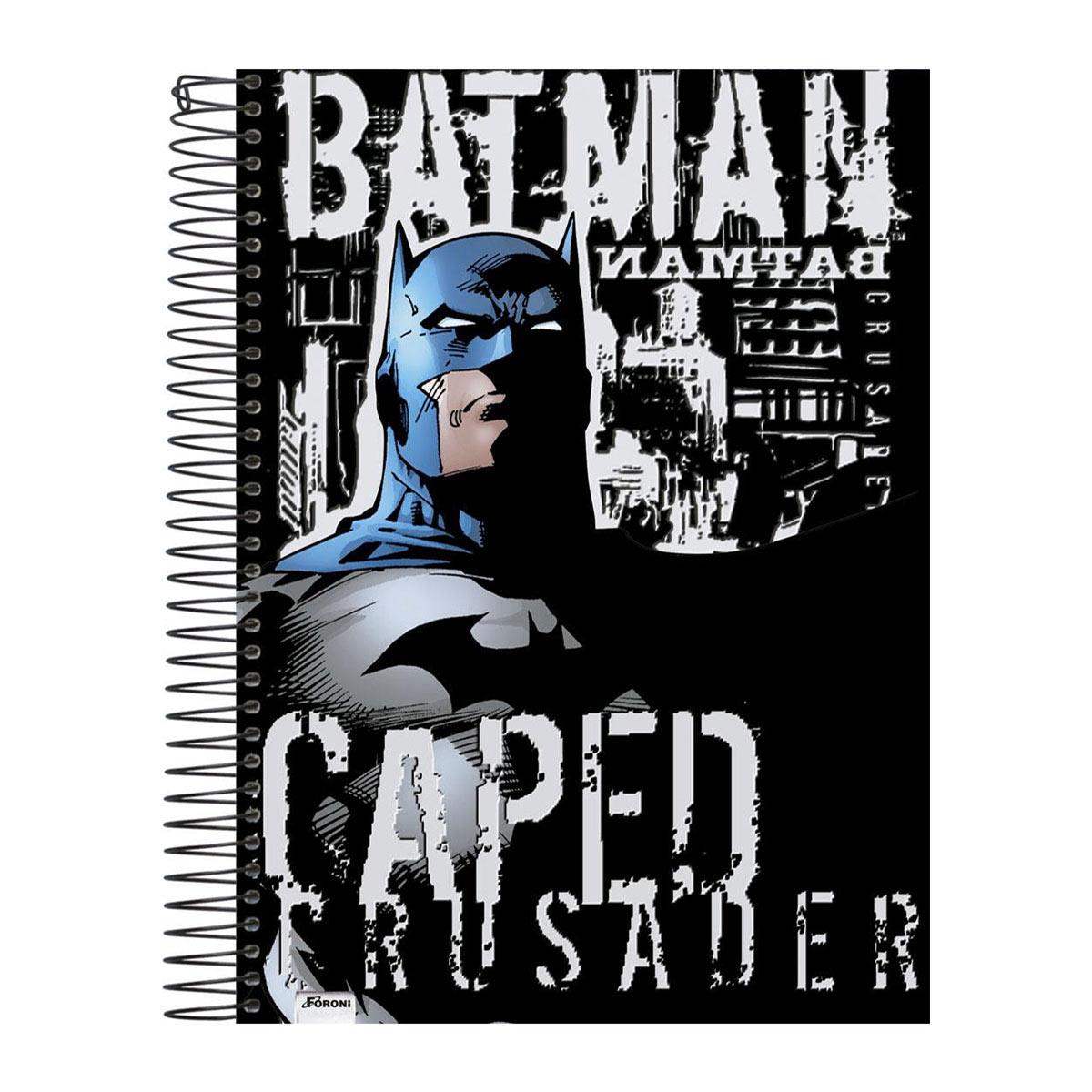 Caderno 1 Matéria Batman Caped Crusader