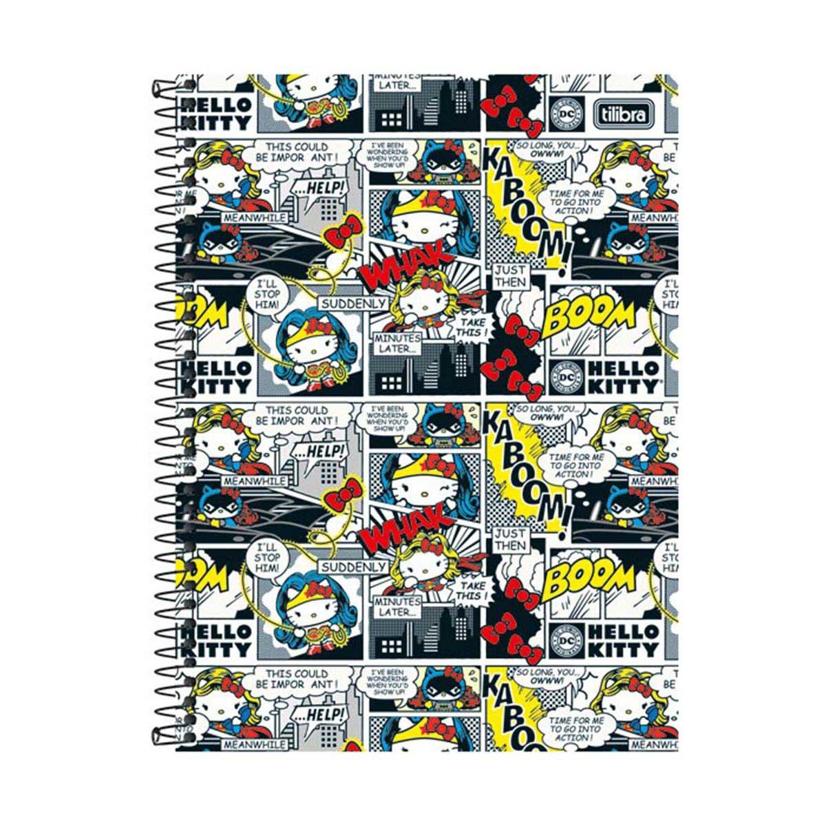 Caderno Hello Kitty DC Comics HQ 1 Matéria