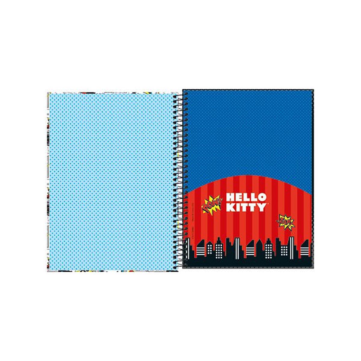 Caderno Hello Kitty DC Comics Supergirl 1 Matéria