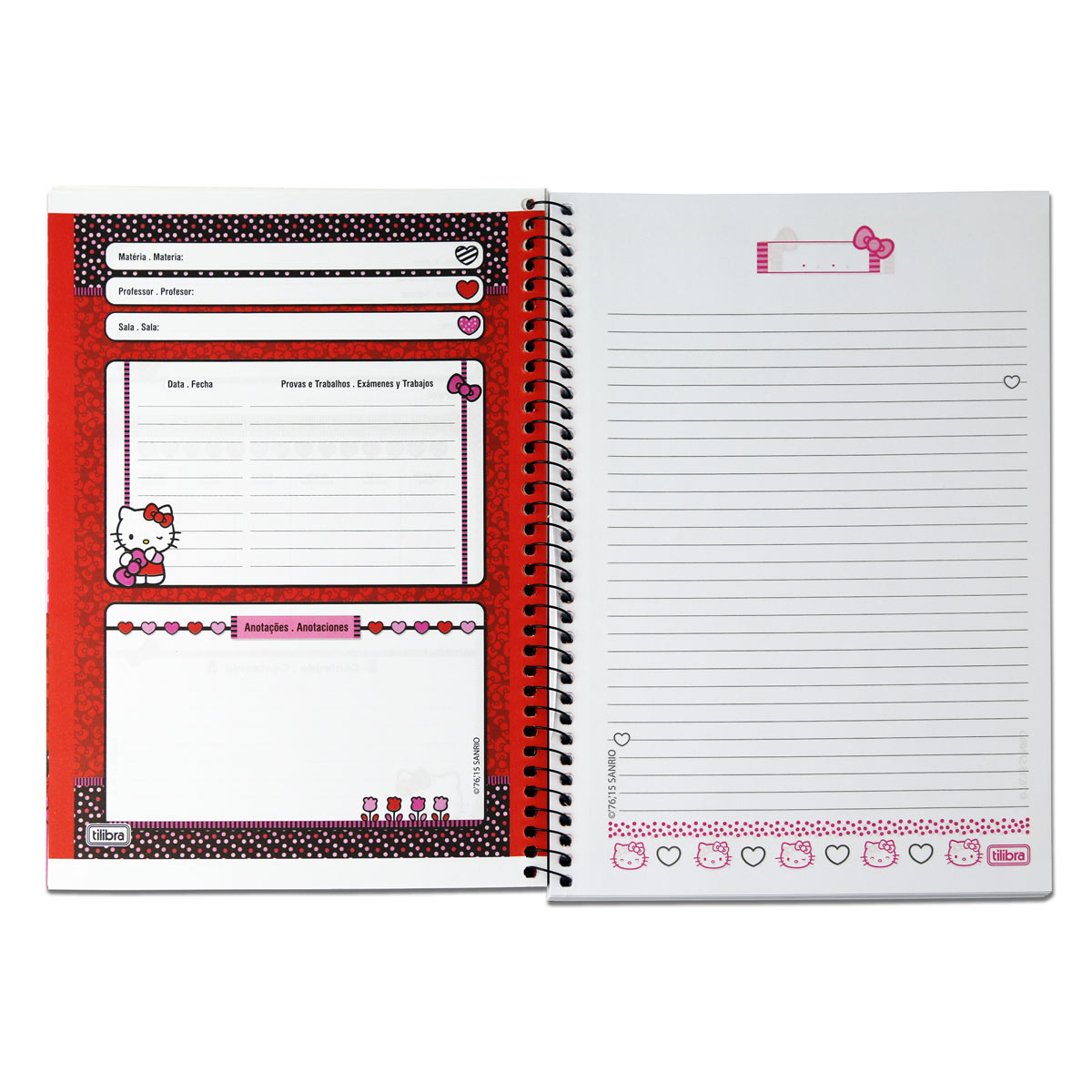 Caderno Hello Kitty Face 1 Matéria