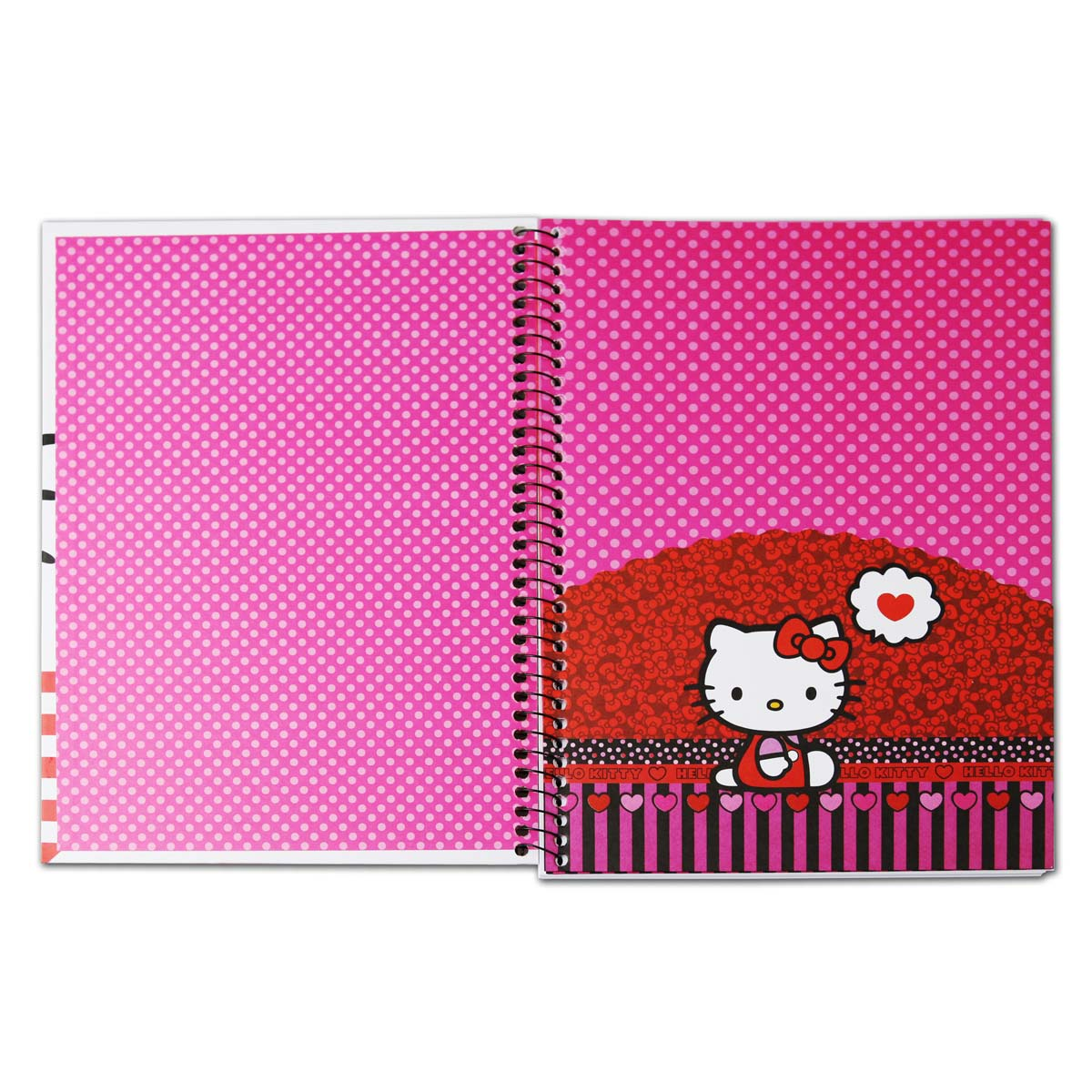 Caderno Hello Kitty Thinking in Love 1 Mat�ria