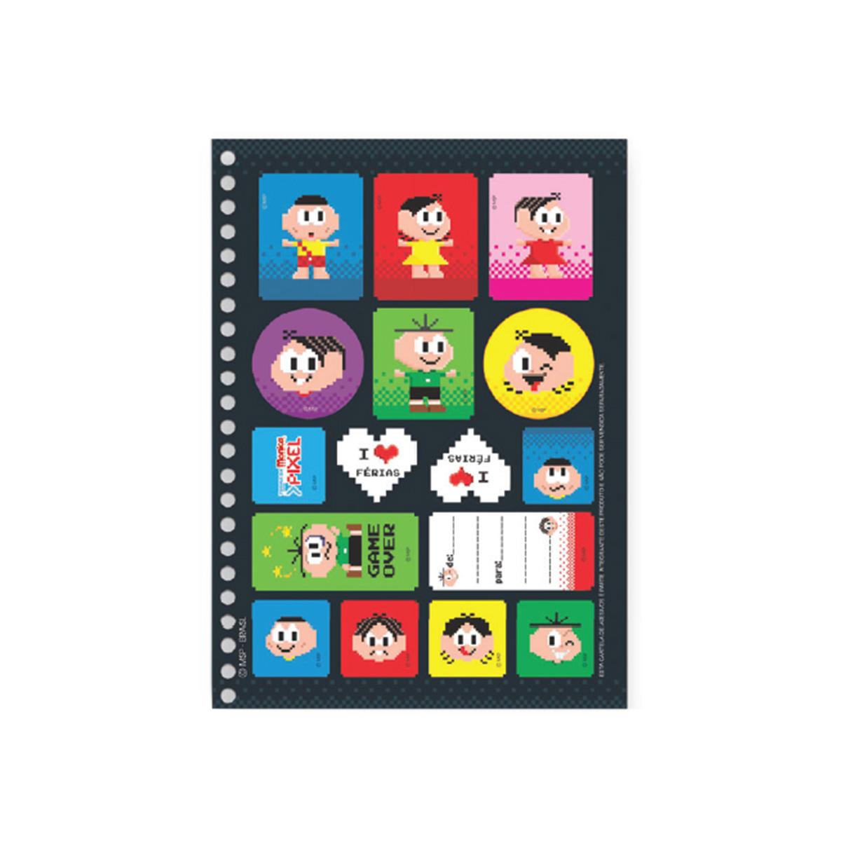 Caderno Turma da M�nica Pixel Casc�o 1 Mat�ria