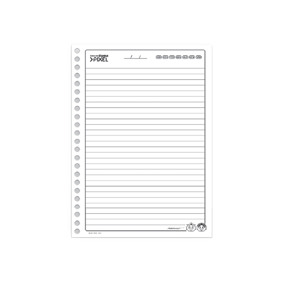 Caderno Turma da Mônica Pixel Cebolinha 1 Matéria