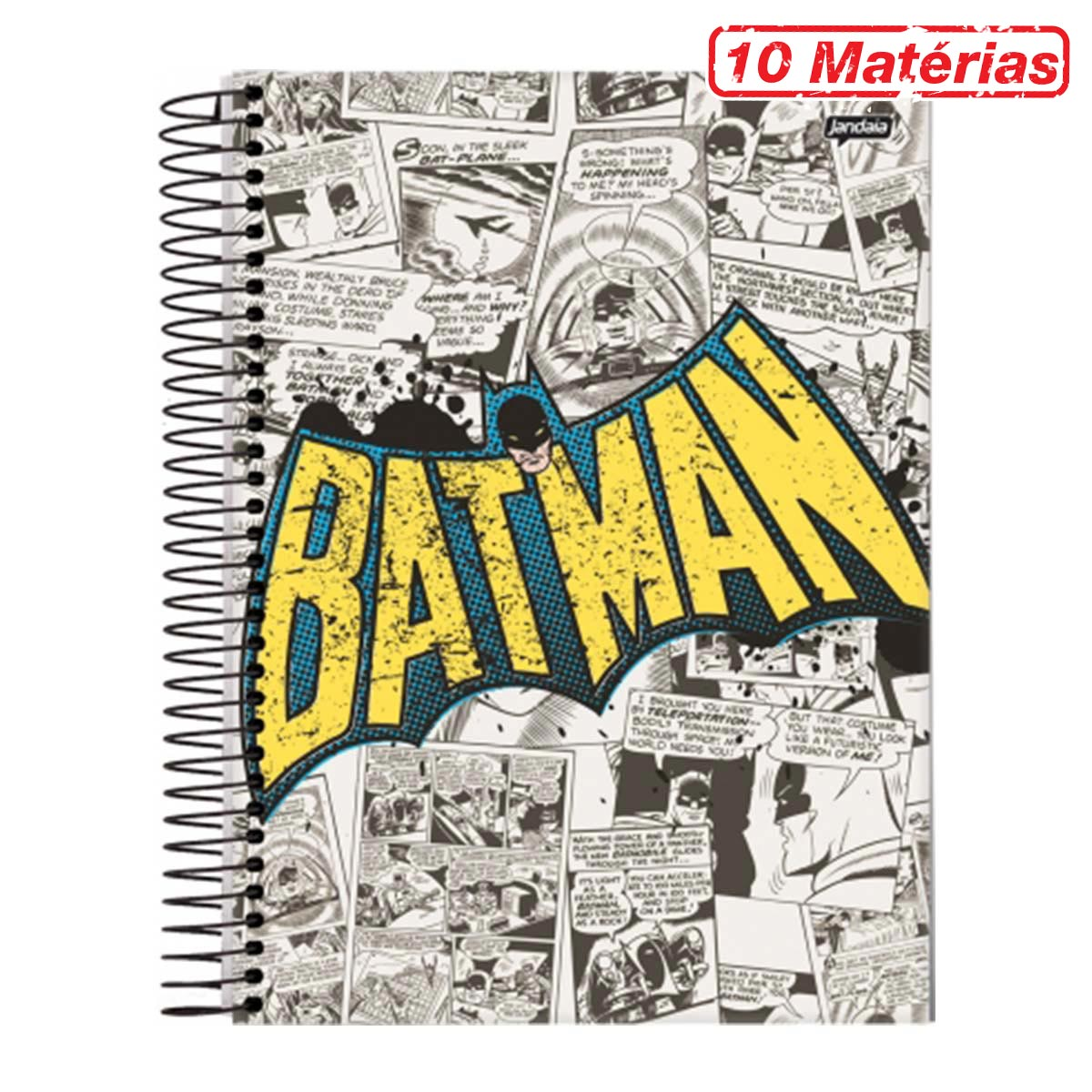 Caderno Batman Logo 1966 10 Mat�rias