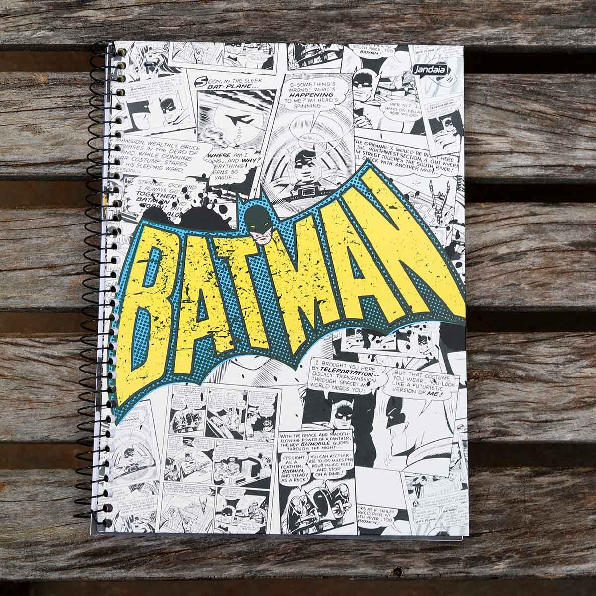 Caderno Batman Logo 1966 10 Matérias