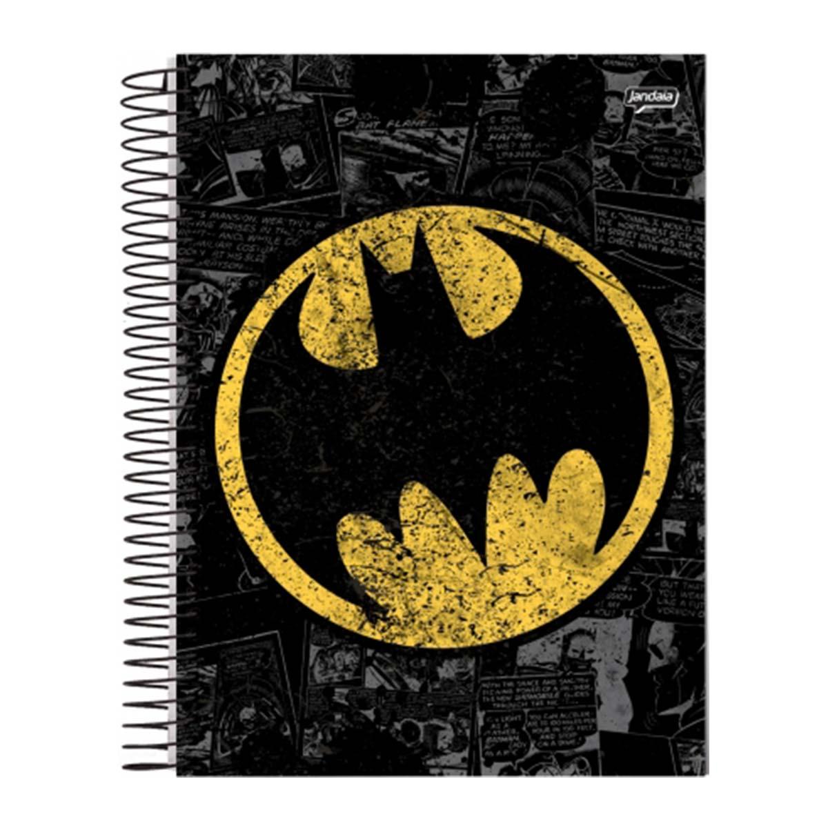 Caderno Batman Logo Retr� 1 Mat�ria