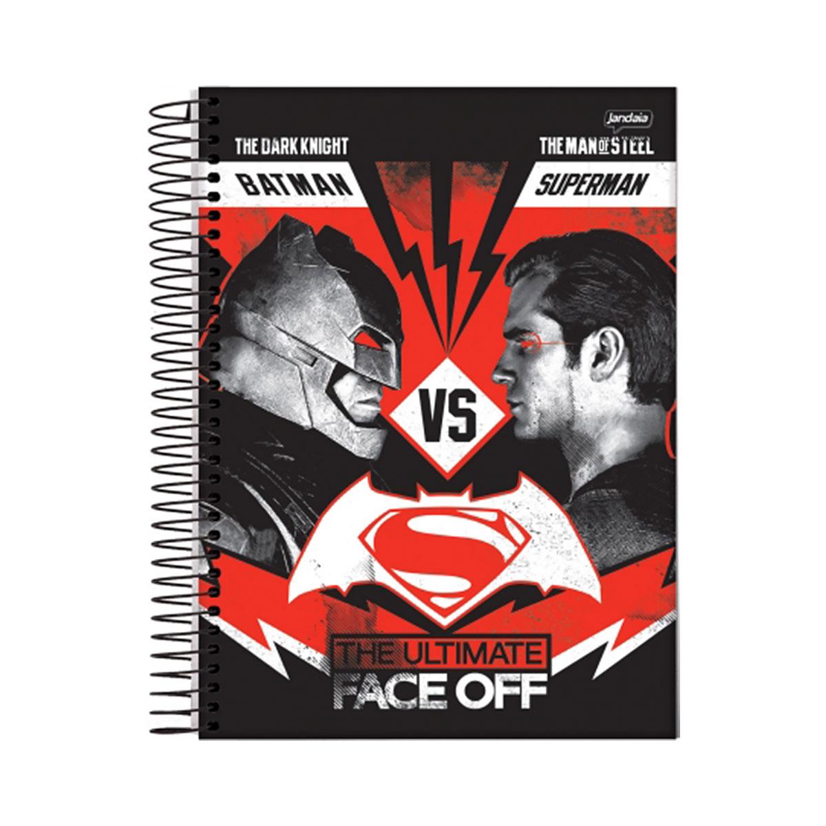 Caderno Batman VS Superman Face Off 1 Mat�ria