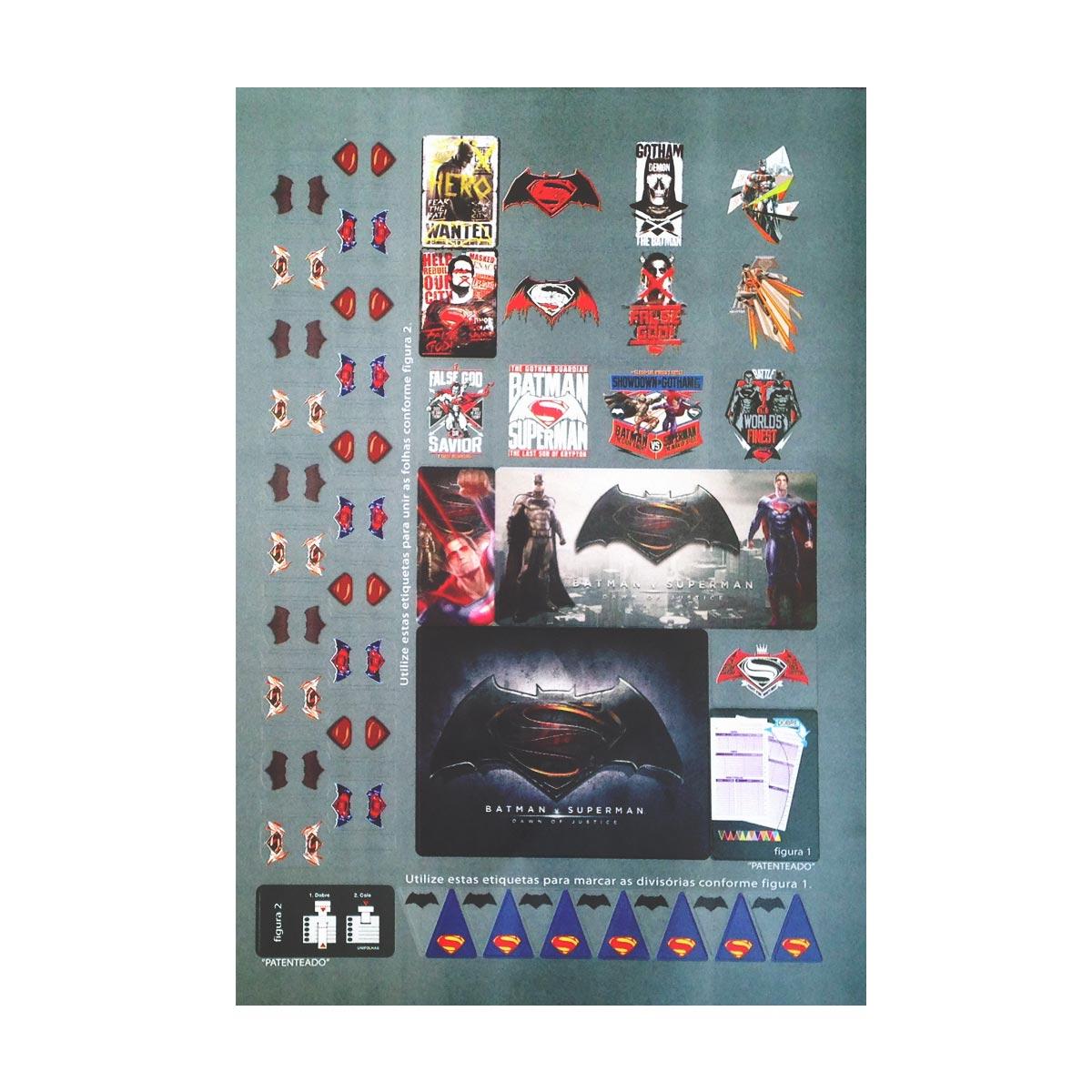 Caderno Batman VS Superman Hero Wanted 1 Matéria