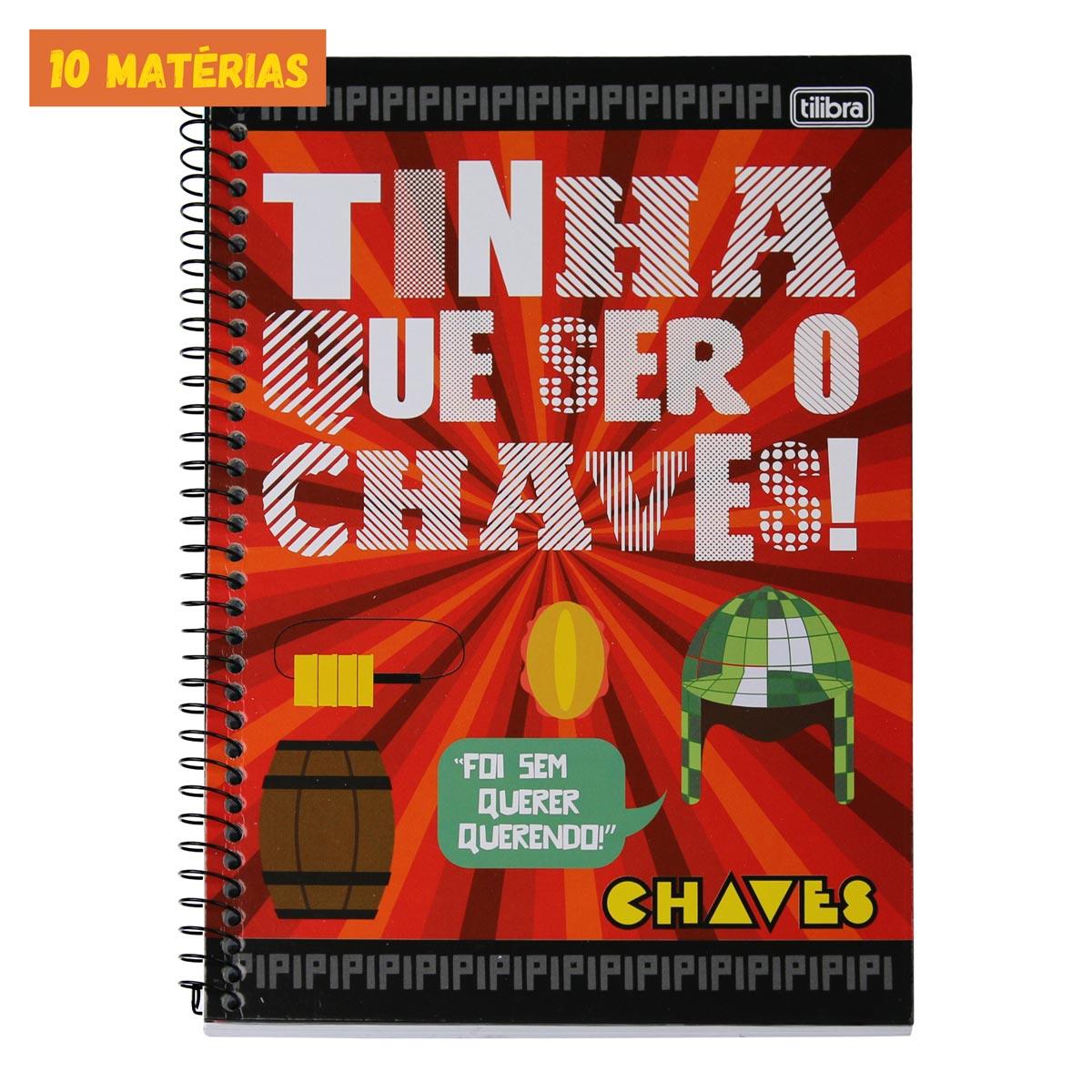 Caderno Chaves Foi Sem Querer Querendo 10 Mat�rias