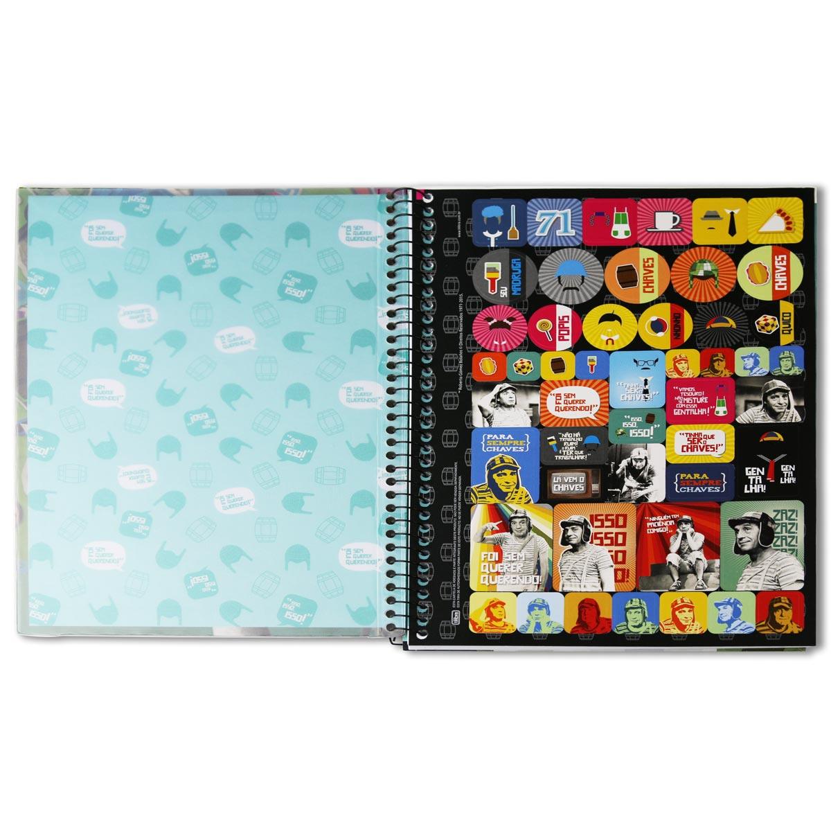 Caderno Chaves Você Me Deixa Louco 10 Matérias