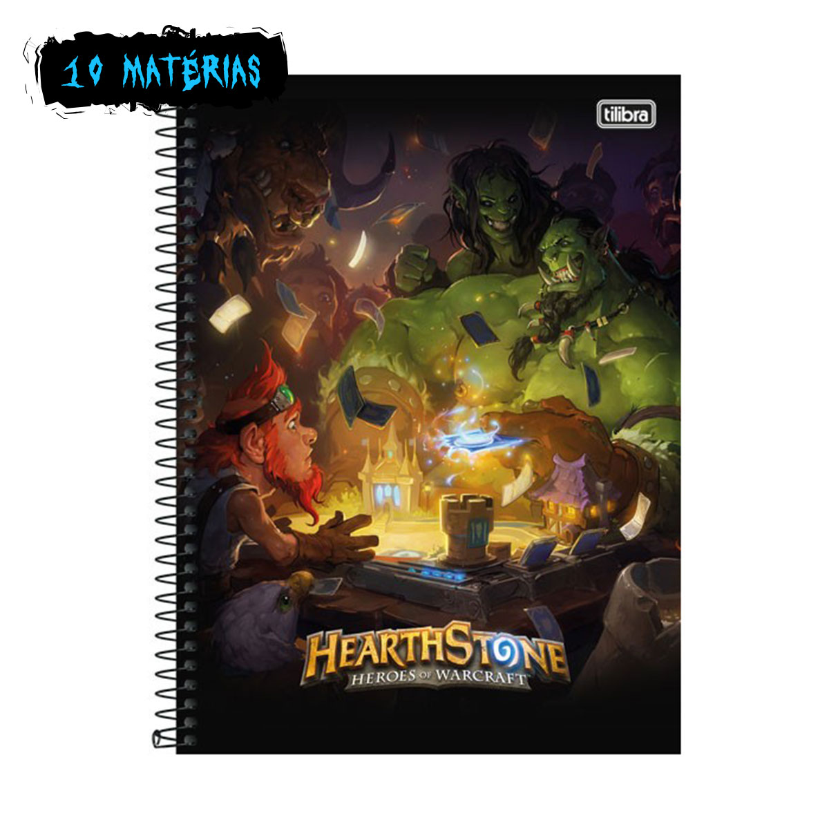 Caderno HearthStone Heroes of Warcraft 10 Matérias