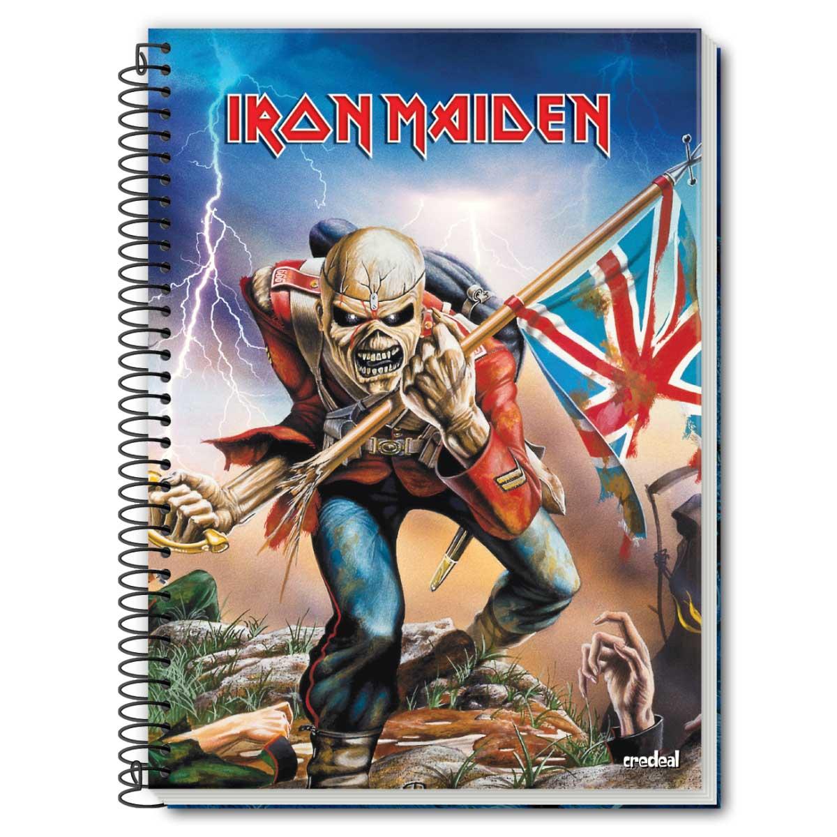 Caderno Iron Maiden The Trooper 1 Mat�ria
