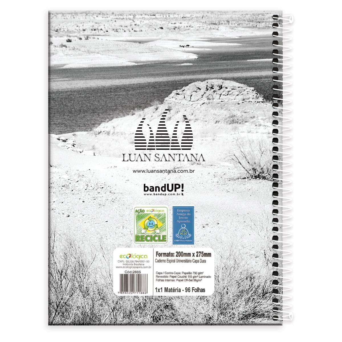 Caderno Luan Santana Summer 96 folhas