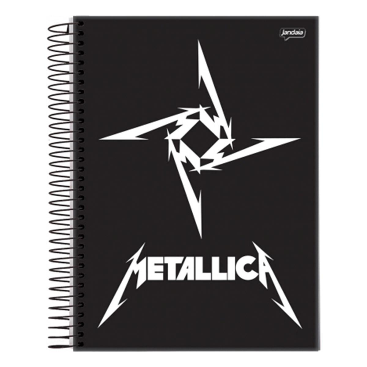 Caderno Metallica Logo 1 Matéria