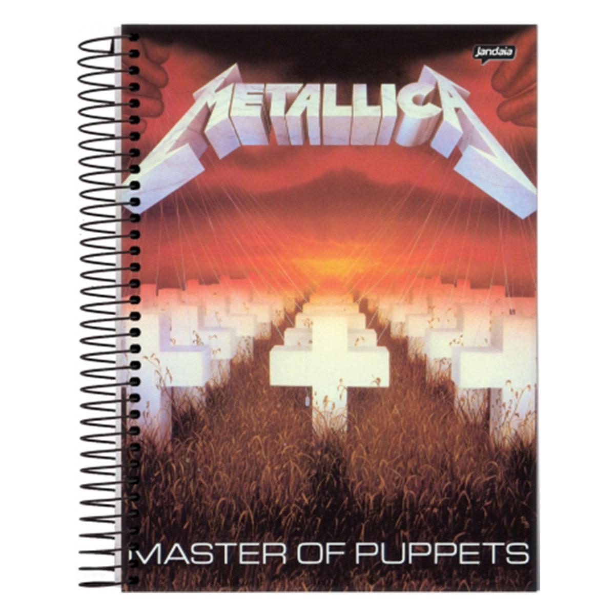 Caderno Metallica Master Of Puppets 1 Matéria