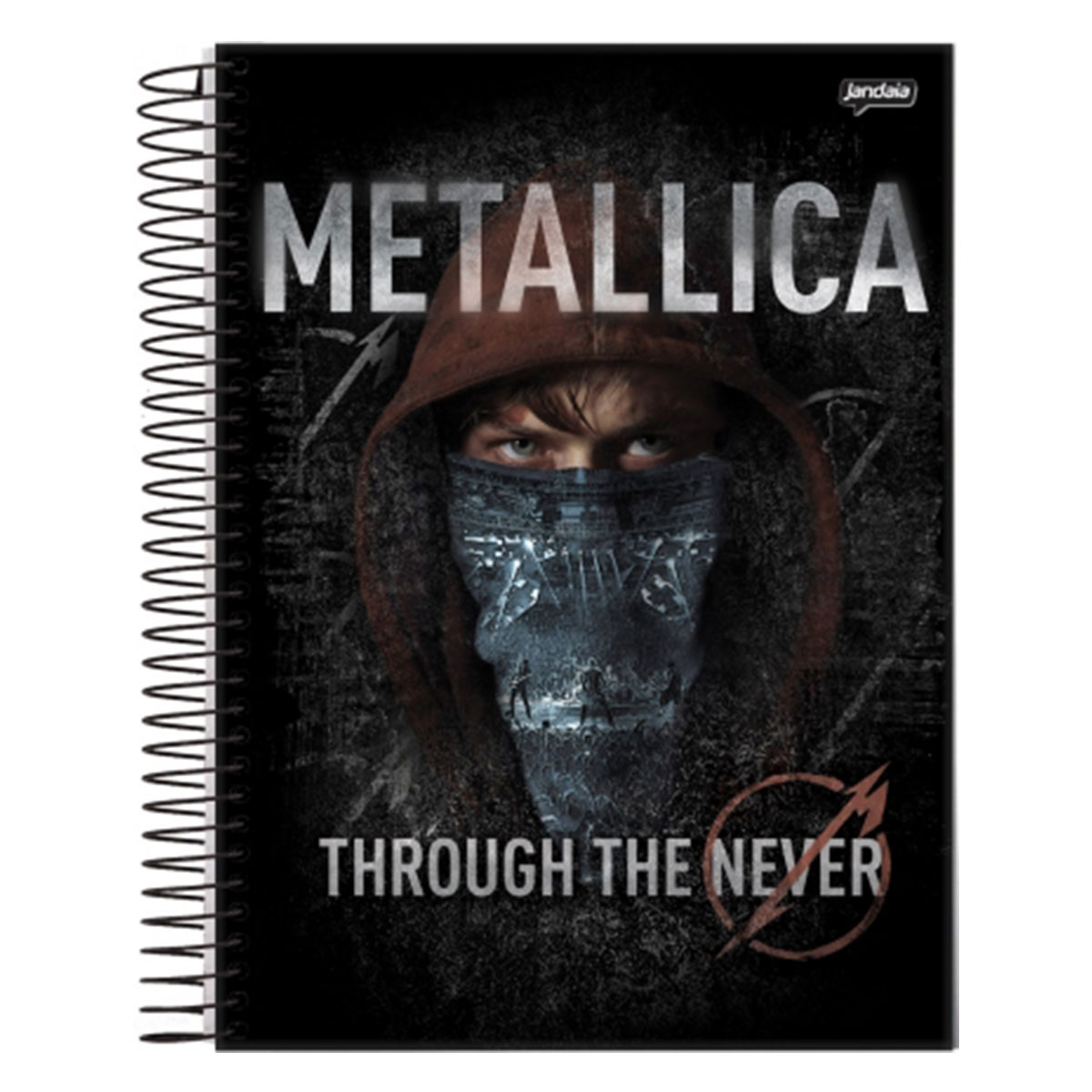 Caderno Metallica Through The Never 1 Matéria