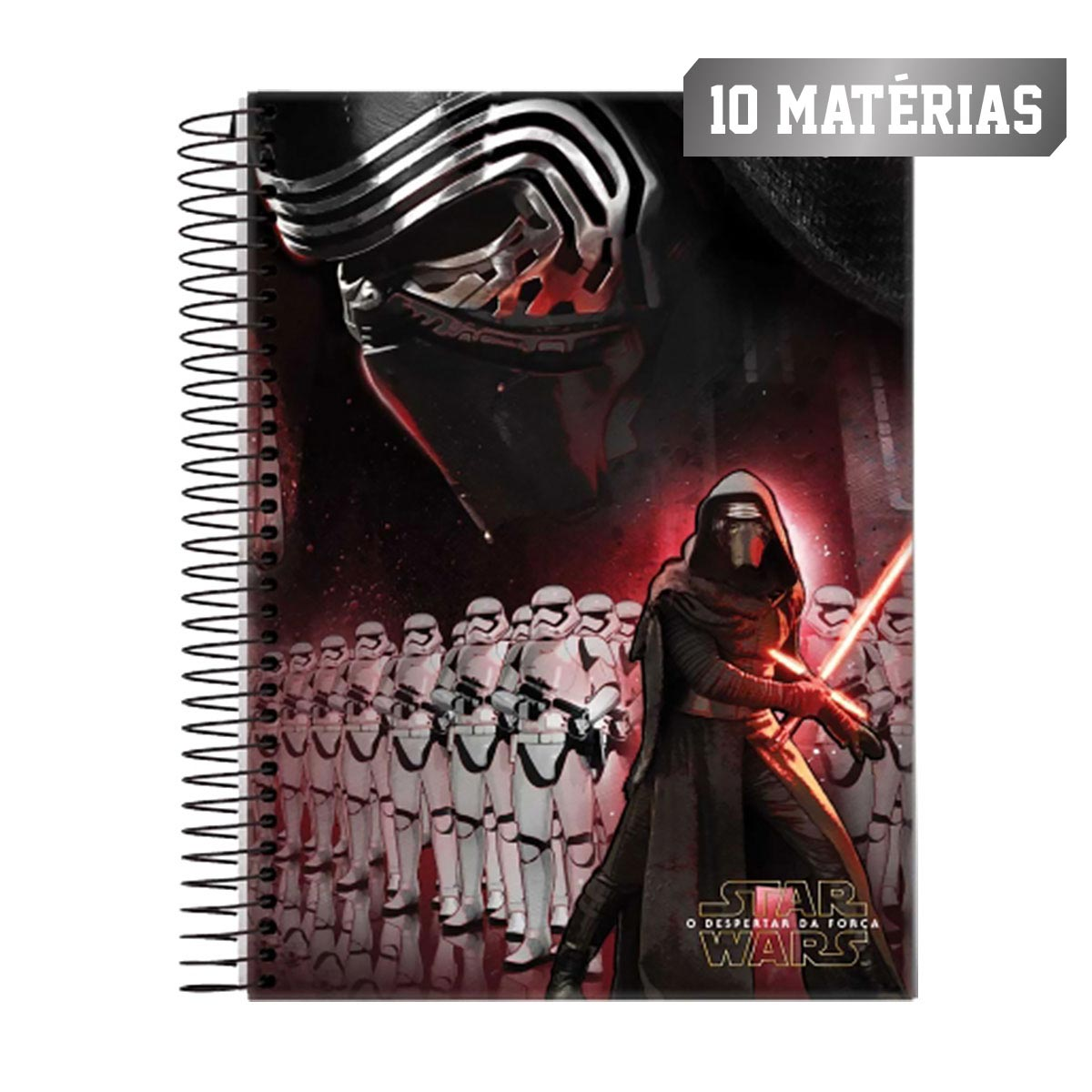 Caderno Star Wars Dark Side 10 Matérias
