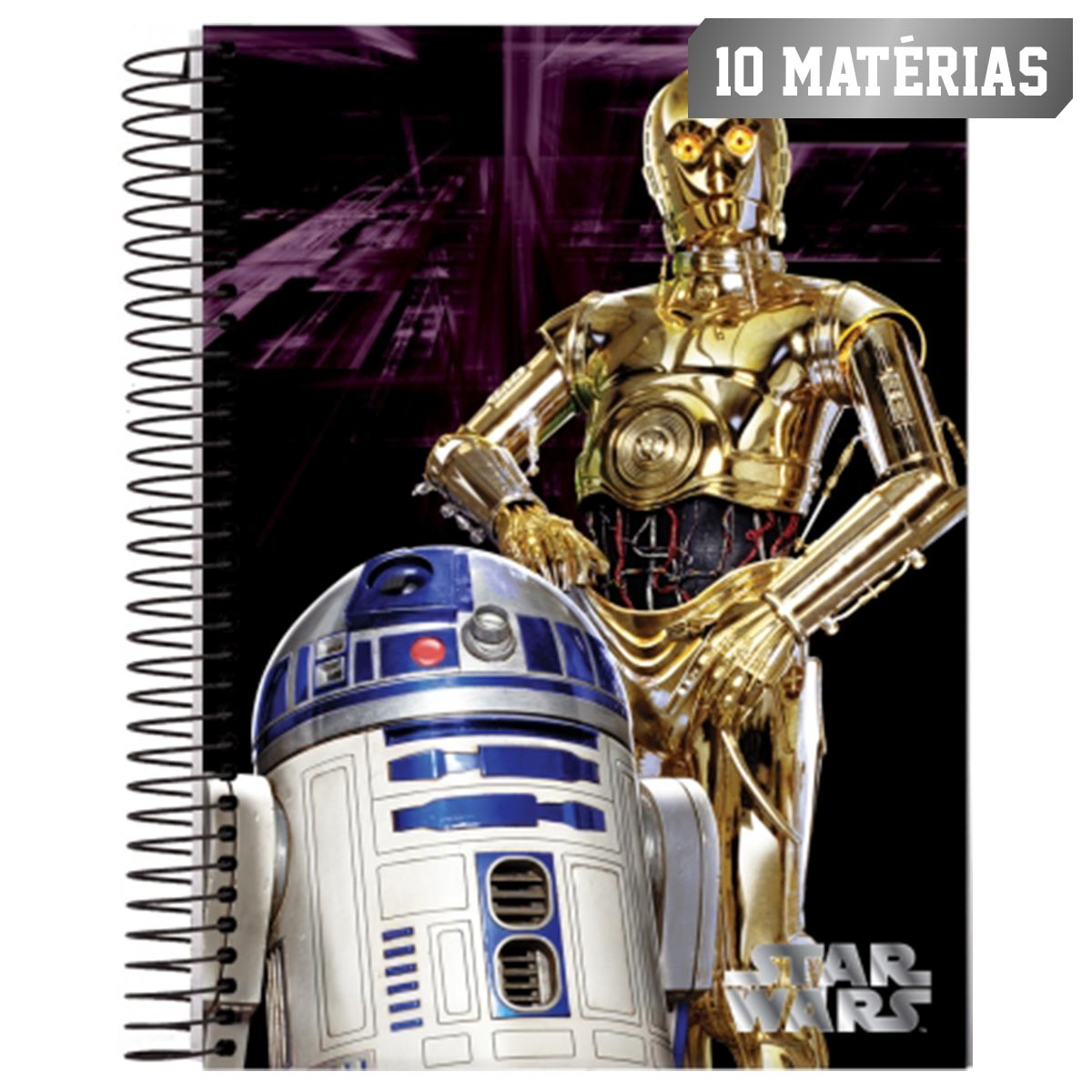 Caderno Star Wars R2D2 C3PO 10 Mat�rias