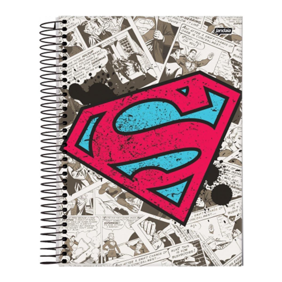 Caderno Superman Logo Retrô 1 Matéria