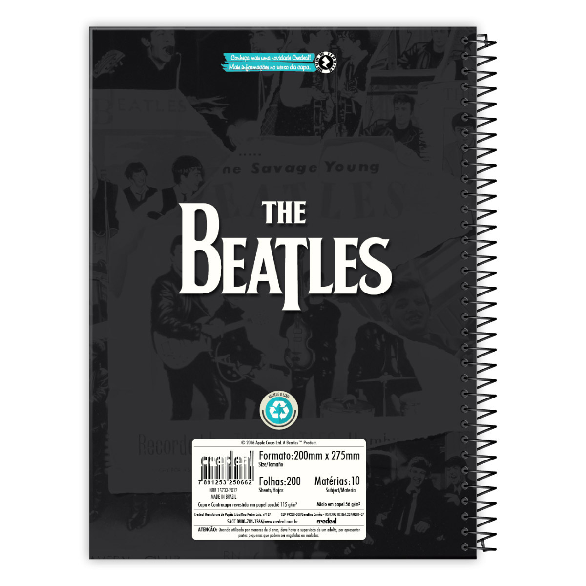 Caderno The Beatles All Star Show 10 Mat�rias