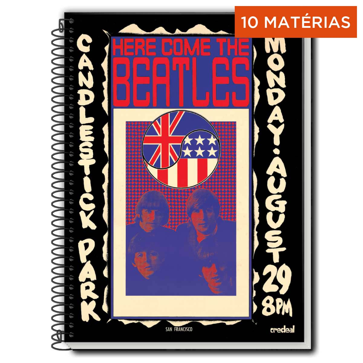 Caderno The Beatles Here Come The Beatles 10 Matérias