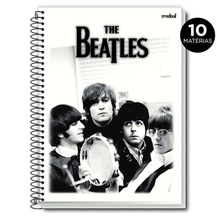 Caderno The Beatles P&B 10 Mat�rias