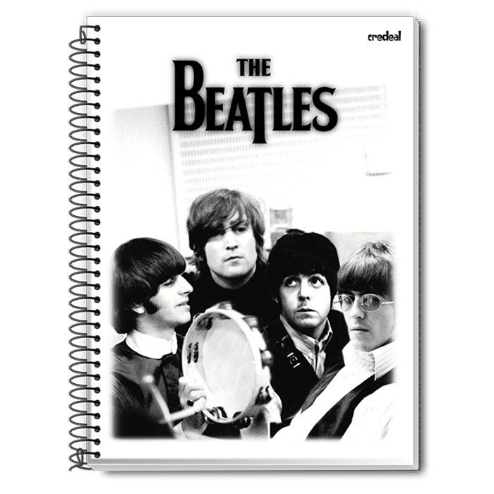 Caderno The Beatles P&B 1 Matéria
