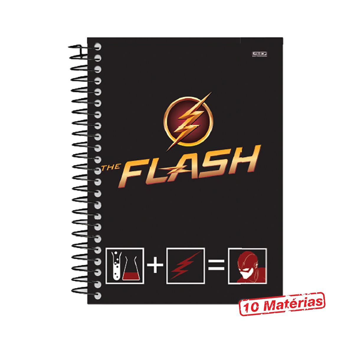 Caderno The Flash Serie Danger 10 Mat�rias