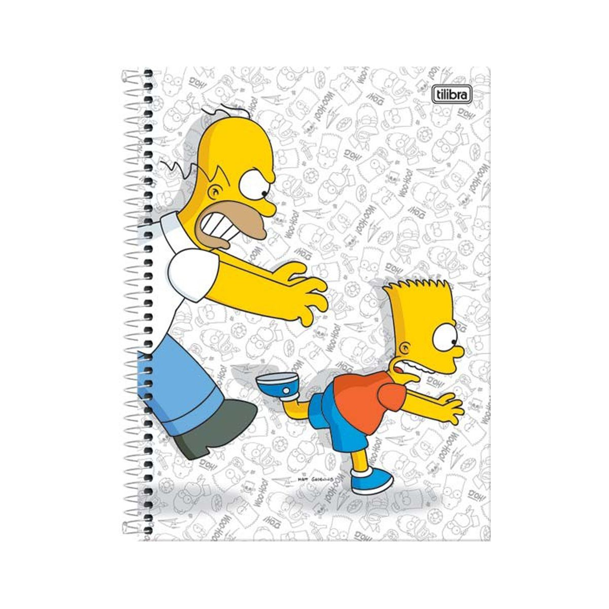 Caderno The Simpsons Bart Running 10 Matérias