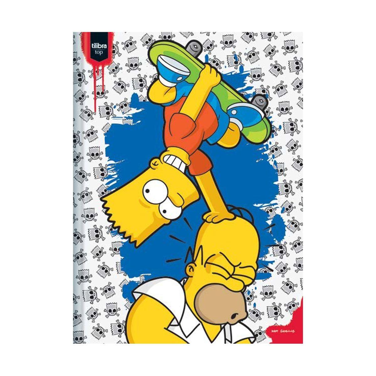 Caderno The Simpsons Skate Brochura 1 Matéria