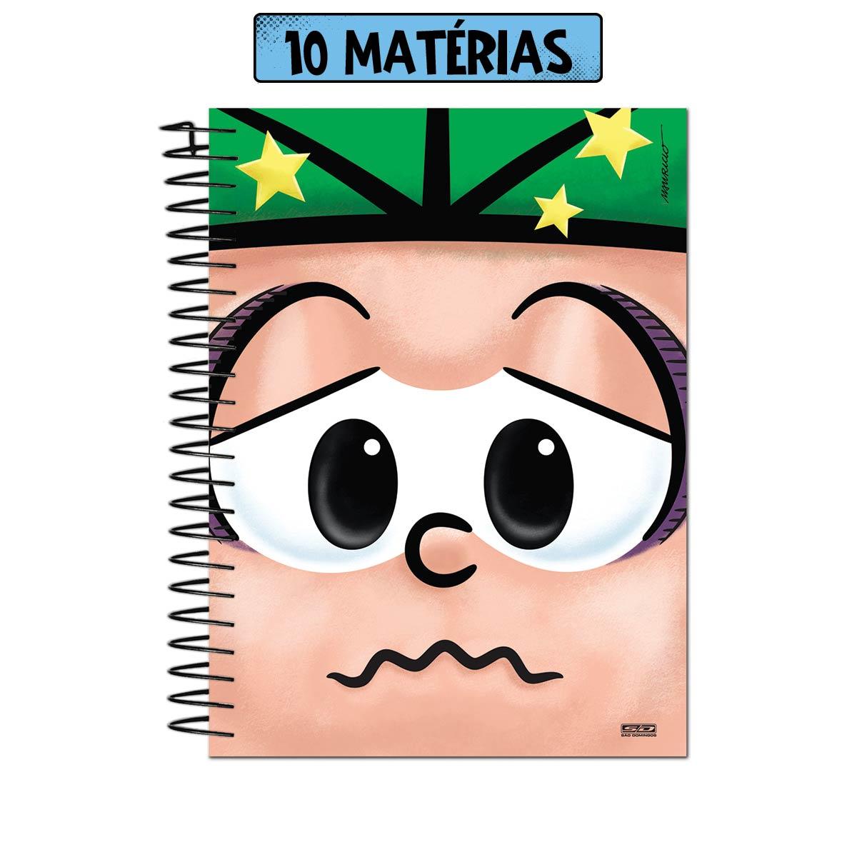 Caderno Turma da M�nica Big Face Cebolinha 10 Mat�rias