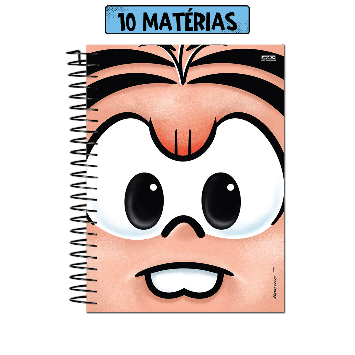 Caderno Turma da Mônica Big Face Mônica 10 Matérias