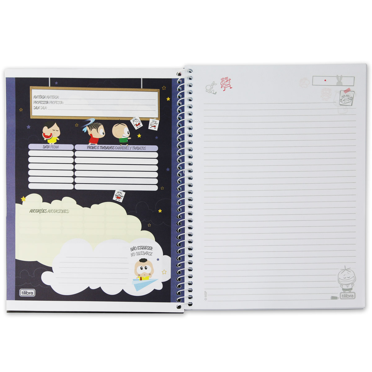Caderno Turma da M�nica Casc�o Encanamento 10 Mat�rias