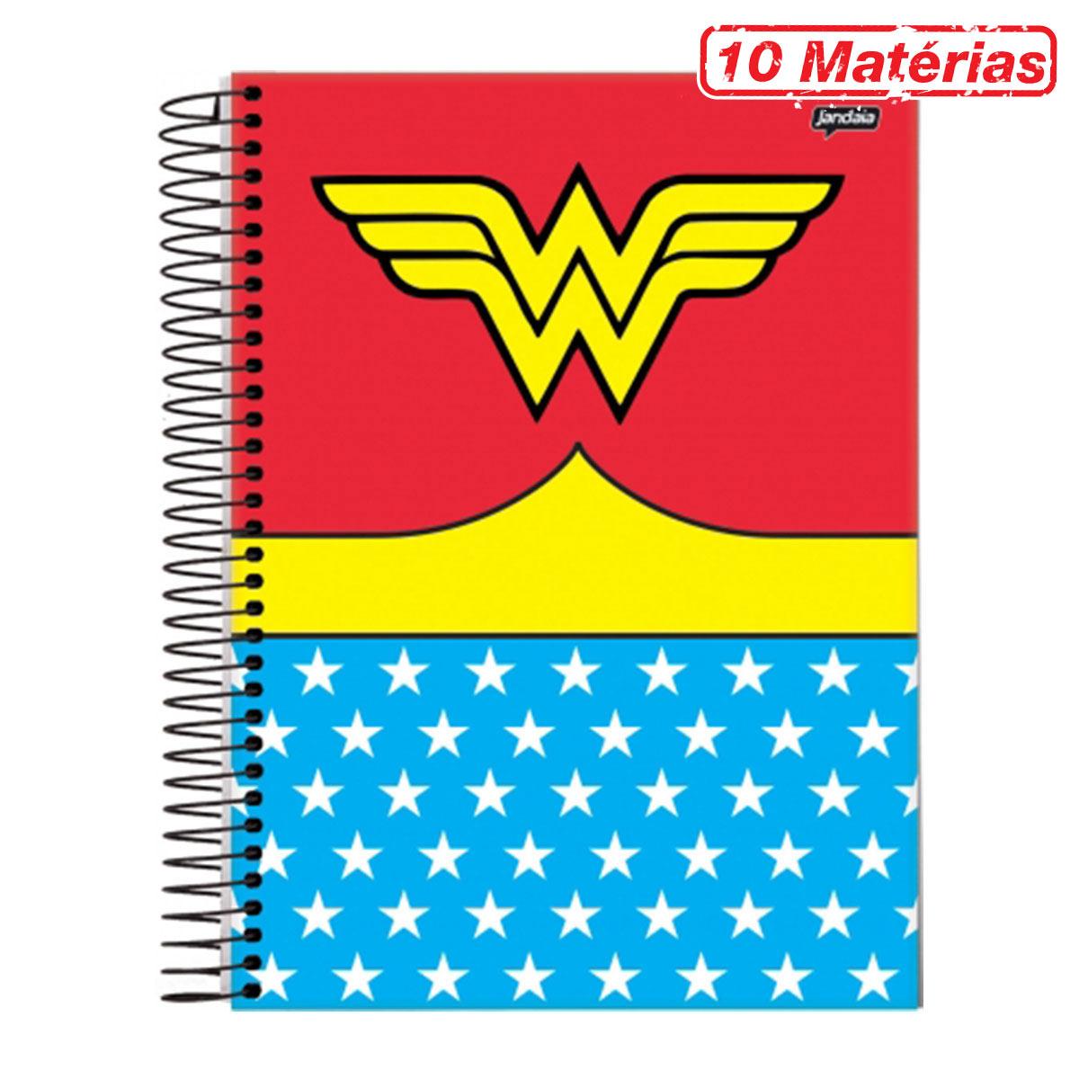 Caderno Wonder Woman Clothes 10 Matérias