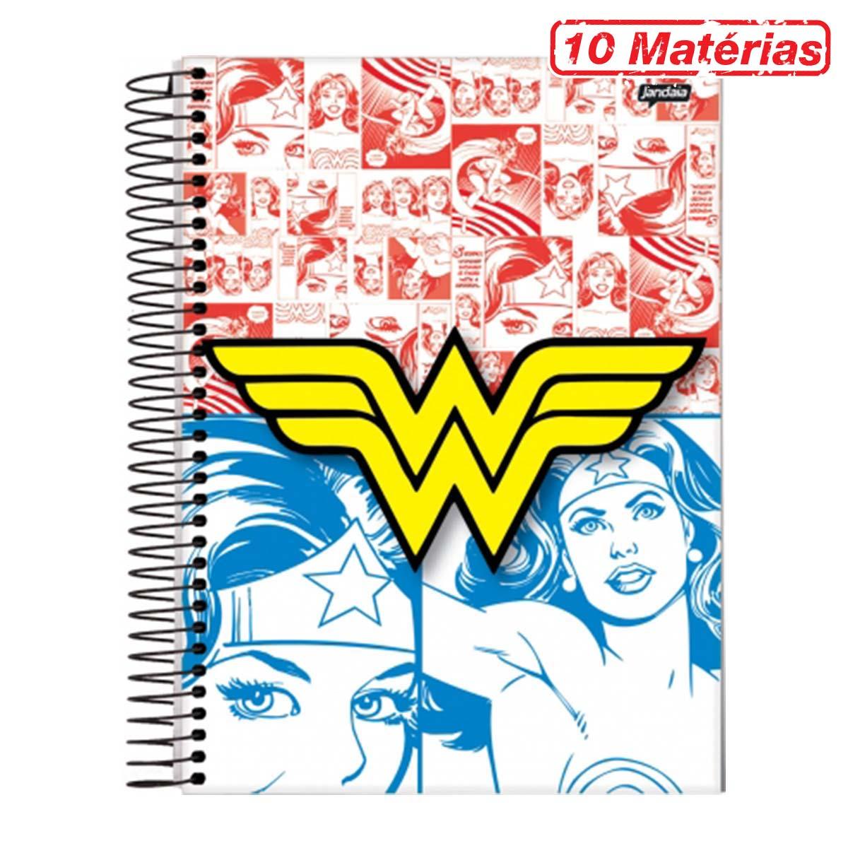 Caderno Wonder Woman Colors 10 Mat�rias
