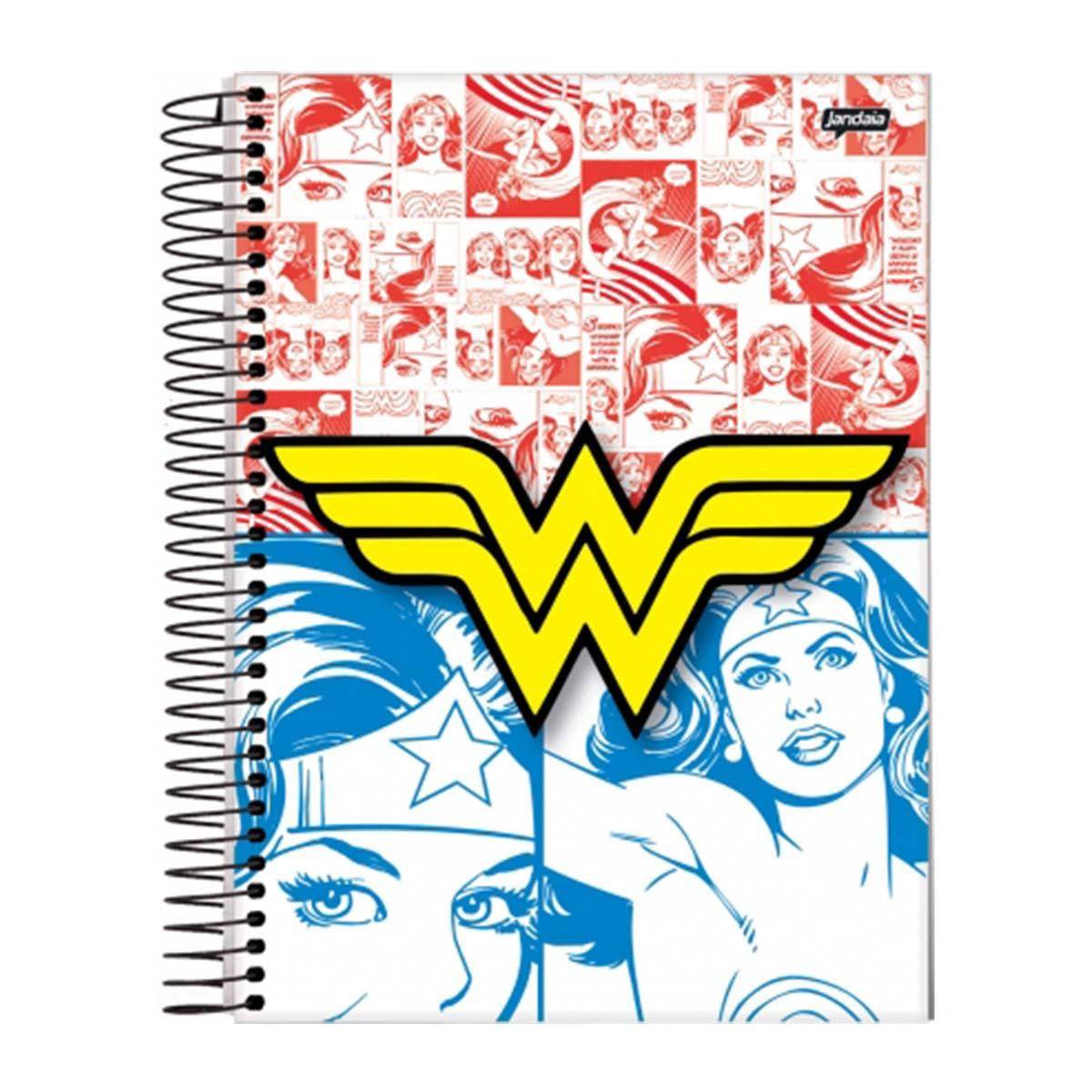 Caderno Wonder Woman Colors 1 Mat�ria