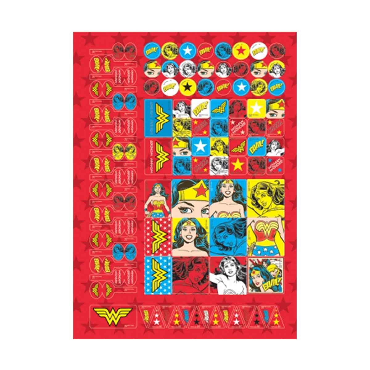 Caderno Wonder Woman Retrô 10 Matérias