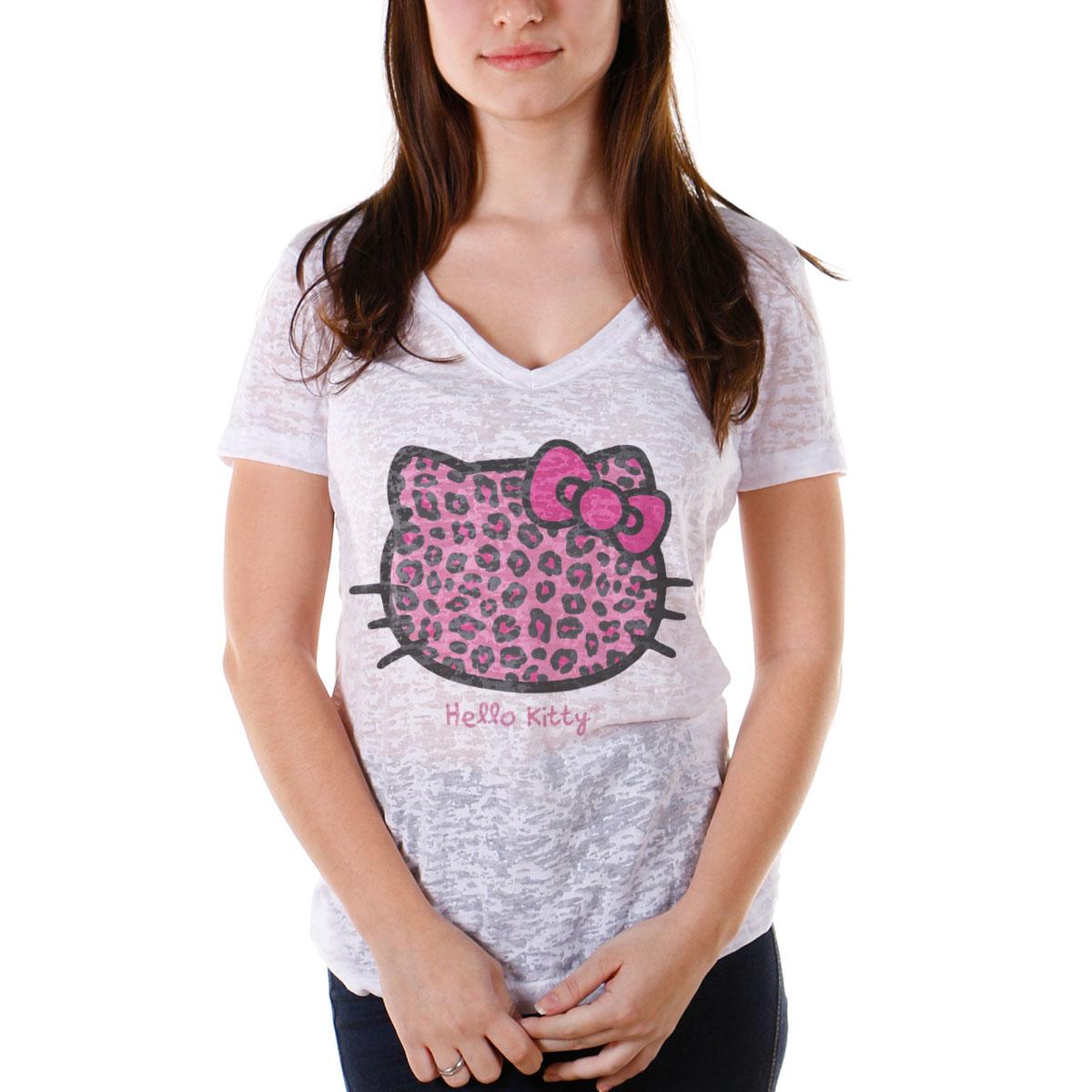Camiseta Devor� Feminina Hello Kitty Animal Print