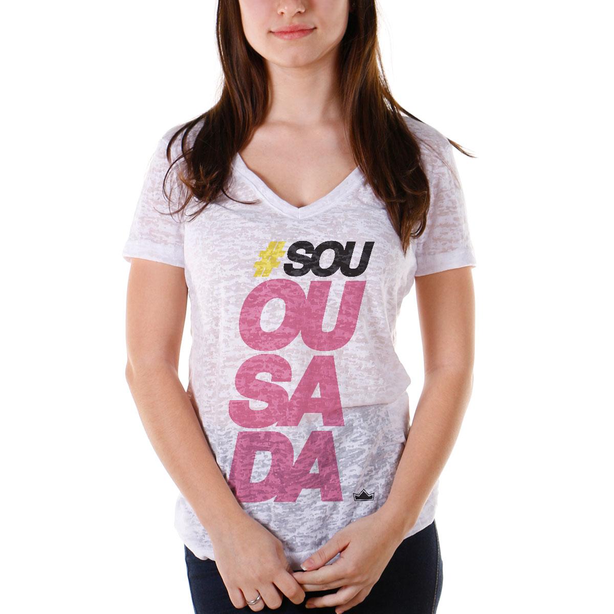 Camiseta Devorê Feminina Thiaguinho Sou Ousada