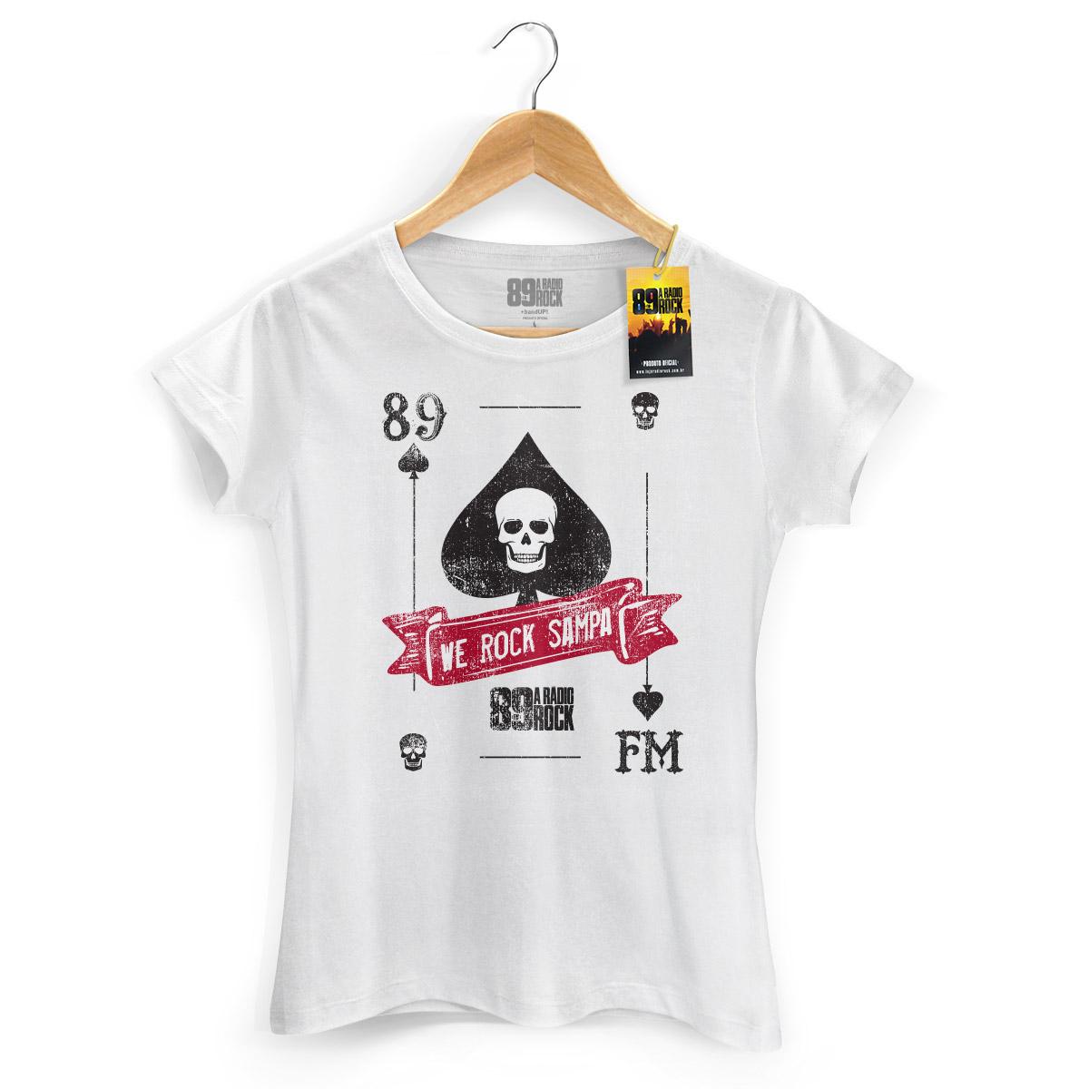 Camiseta Feminina 89 FM A Rádio Rock We Rock Sampa Card