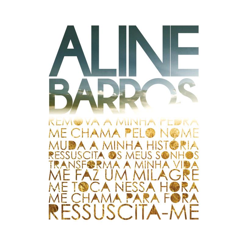Camiseta Feminina Aline Barros Ressuscita-me