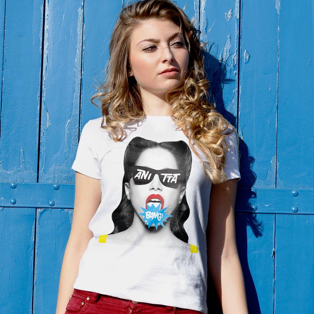 Camiseta Feminina Anitta Bang!