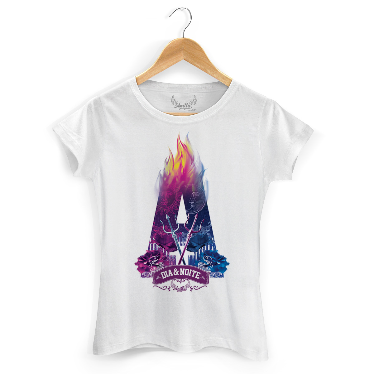 Camiseta Feminina Anitta Dia e Noite